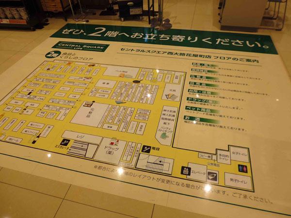 スーパーマーケットの床面標示のアイキャッチ画像