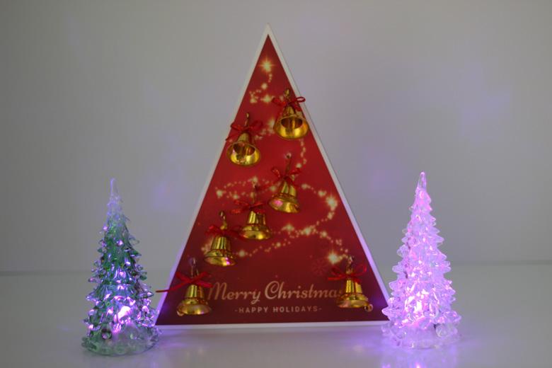 卓上クリスマスツリー正面からの画像