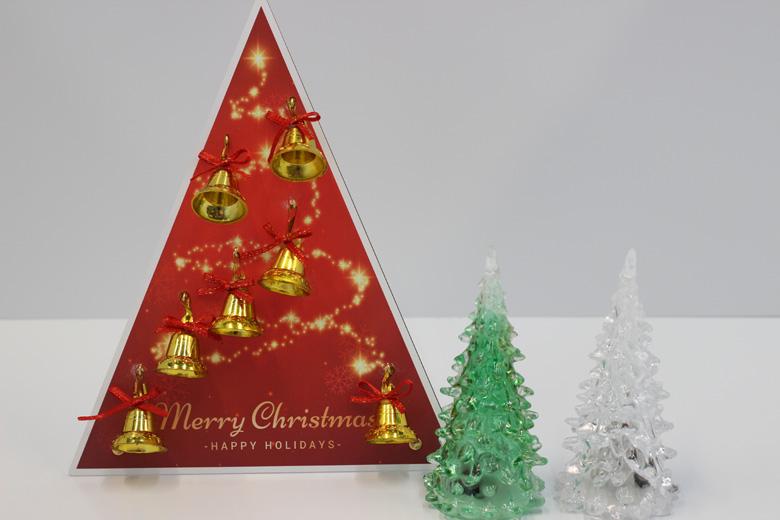 UVプリント印刷で作成した卓上クリスマスツリー