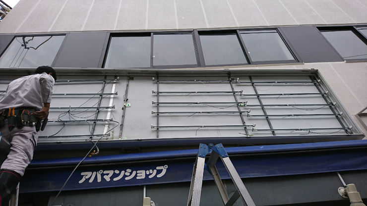 LEDの取り付け風景