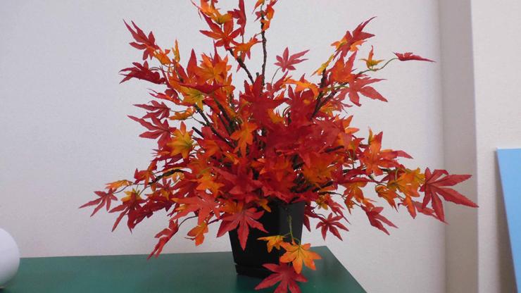 紅葉のオブジェ
