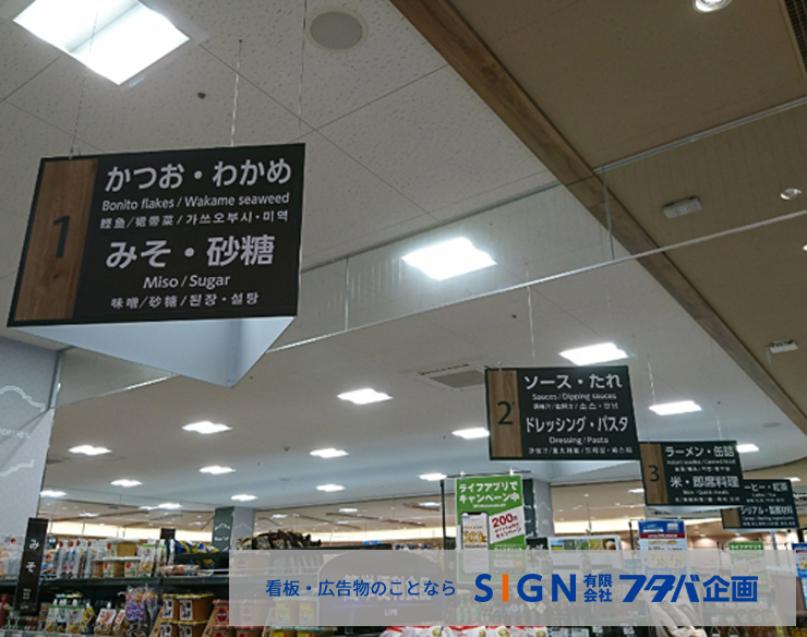 スーパーマーケット売場品群プレート