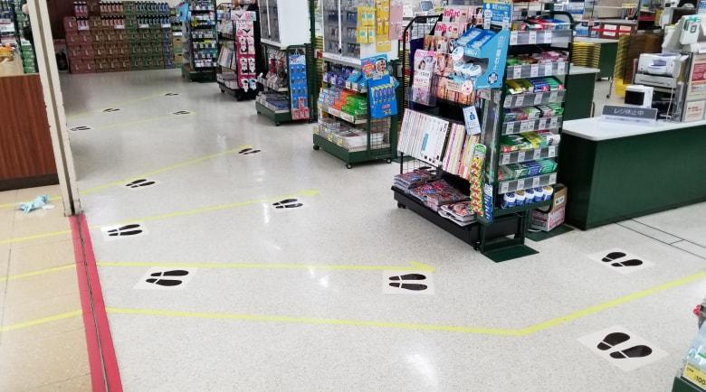 新型コロナウイルス対策足あと床シート事例2